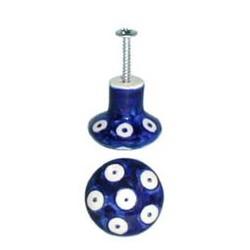 Door Knob in 'blue eyespot'...