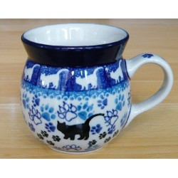 Mug 0.2 ltr in 'Cat' pattern