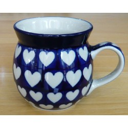 Mug 0.2 ltr in 'Hearts'...