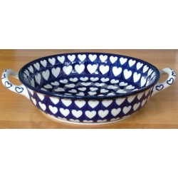 S. Round Dish in 'hearts'...