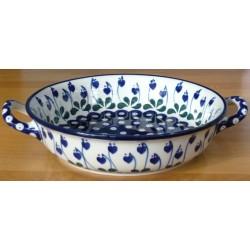 S. Round Dish in 'Leaf...