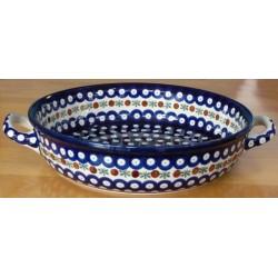 Round Dish in 'blue eyespot...