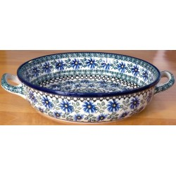 Round Dish in 'Cornflower'...
