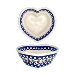 Small Heart Bowl in 'blue...