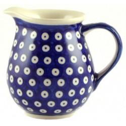 Jug in 'blue eyespot' pattern